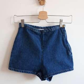 American Apparel Denim Tap Shorts xs