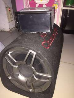 Monitor dan subwoofer mobil(hollywood&american challenge)
