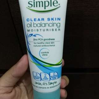Simple Clear Skin Oil Balancing Moisturiser