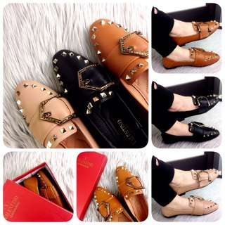 VALENTINO GARAVANI First Lady Leather Loafers Autumn 2018