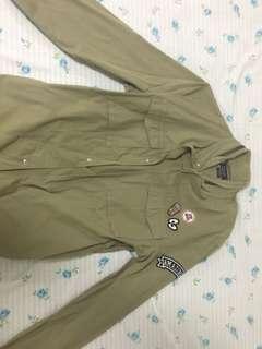 Green Windbreaker Jacket Zara