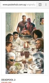 A Set Of deadpool 2 posters