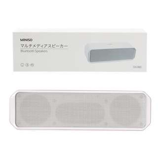 (White) MINISO Portable Bluetooth Speakers (Dual) (Model: T-16)