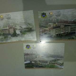 ulang tahun  ke-100 sek Yu Hua poskad 3keping~rm5