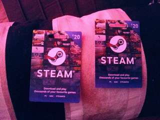 3 x $20 steam cards