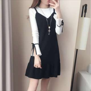 Cute black dress; ulzzang Korean Kpop trendy; woman women female girl lady ladies; office work formal;