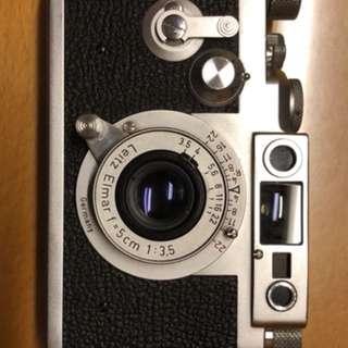 Leica film body and lens