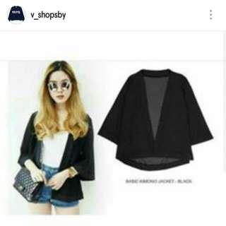 SALE Basic Kimono Black