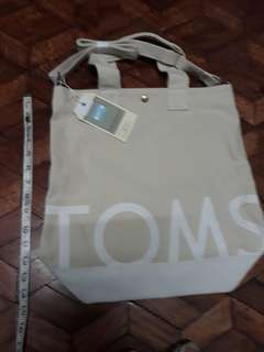 Brand New TOMS logo Canvas Tote free Sf luzon