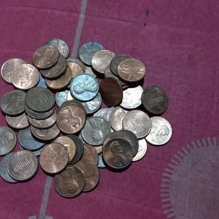50 pcs lincoln cents