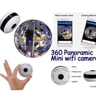 Wifi IP Camera - 360 / 180 Fisheye, Panoramic, Wide Angle CCTV