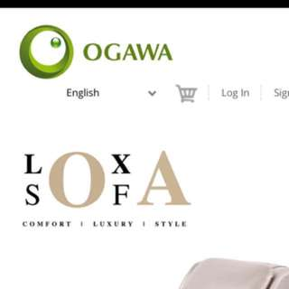 Ogawa loxa sofa (perfect condition) 1yr old