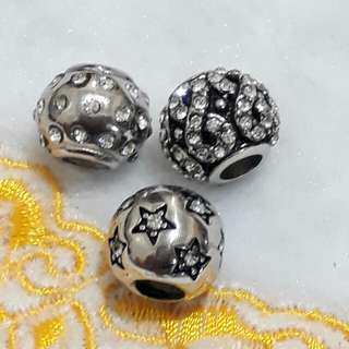 high quality stainless pandora charms with stones