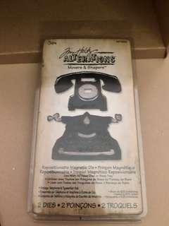 Telephone & type writer die cut