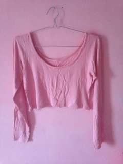Crop Top Pink Low Back