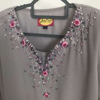 Baju Kurung Moden with Beads & Embroidery