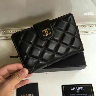 Chanel Bifold Wallet Original Leather Grade
