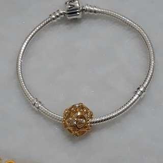 gold plated pandora charm