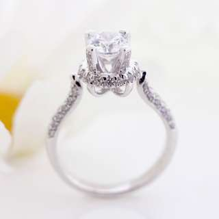 AUTIUM Diamond Engagement ring, solitaire ring, special diamond ring, in silver SR3708