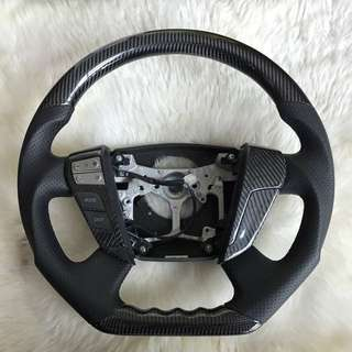 Toyota Alphard Carbon Fiber Steering wheel c/w Audio control button cover