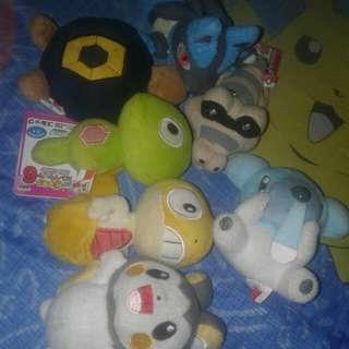 Pokemon plush 100 each