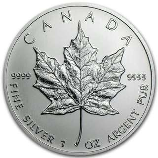 1 oz Silver Coin Canadian Mapple Leaf