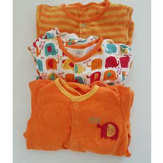 Mothercare Sleep Suits set of 3