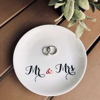 Customised Wedding Ring Dish