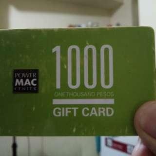Mac Apple Store gift card