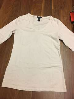 Mango White Long Sleeve Top (Get5Free1 *T&Cs)