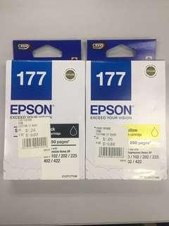 Epson 177 Ink Cartridges (black & yellow)