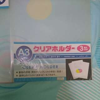 A3 Clear Cover