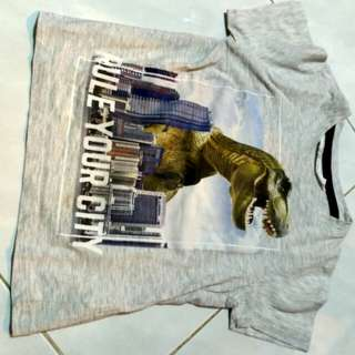 H&M TSHIRT DINO PRELOVED