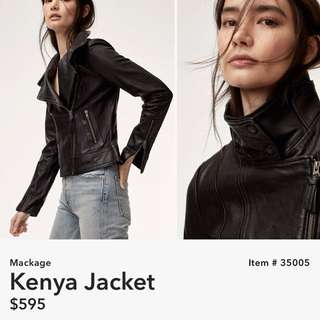 Mackage Kenya Leather Jacket