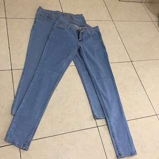 Jeans new polos uk 27. 7/8 dan panjang