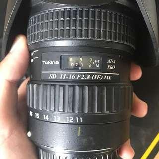 Tokina 11-16 f2.8 Canon Mount