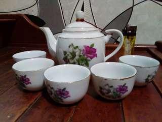 Set teko Bunga Kangkung