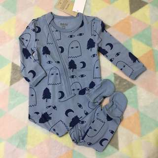 COTTON ON Blue Sleepsuits