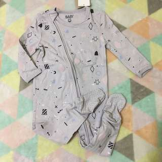 COTTON ON Grey Sleepsuits