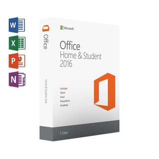 正版永久 買斷版 Microsoft Office 2016 Home and Student 數位版