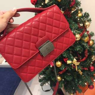 ❌SOLD❌ Chanel University Flap Red Calfskin
