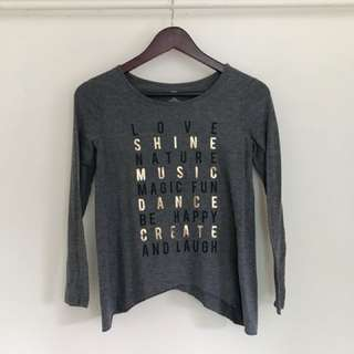 "Old Navy Grey ""Love Shine"" Longsleeve"
