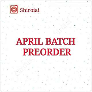 APRIL BATCH JPOP & KPOP PREORDER INFO - BTS EXO APINK TWICE HEY SAY JUMP ONE OK ROCK JOHNNYS KISUMAI SEXY ZONE