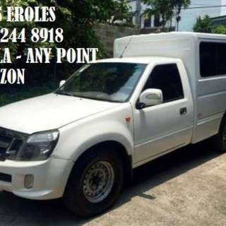 Van for rent Manila to any point of Luzon