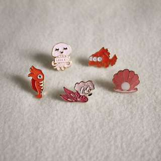Mermaid Enamel Pin Pack
