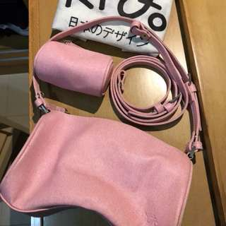 粉紅細手袋連散子包(長短帶包埋)