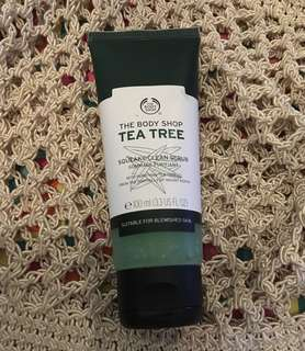 Charity Sale! Authentic Body Shop Tea Tree Face Wash Squeaky Clean Scrub