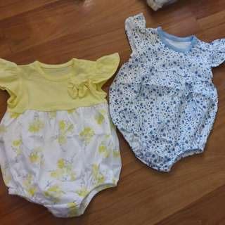 Mothercare Rompers set of 2
