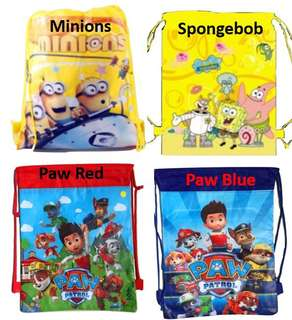 Children Drawstring Bags/birthday Party/goodie bag/gift ideas