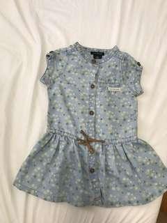 12-18M Calvin Klein Jeans Baby Girl denim dress